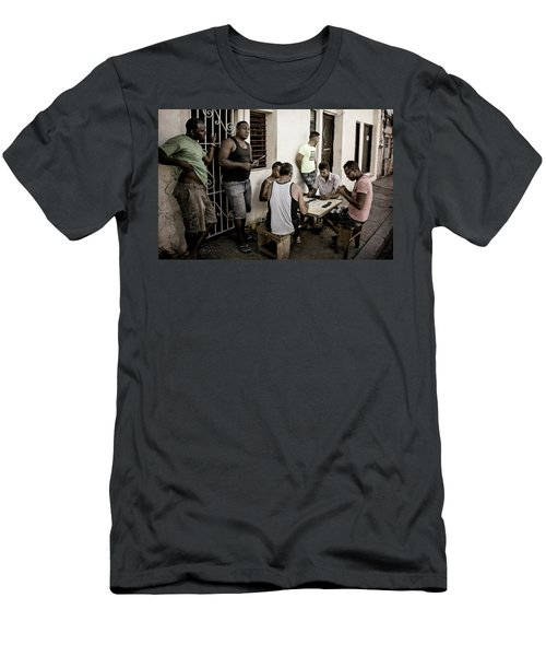Men's T-Shirt (Slim Fit) featuring the photograph Dominoes by Joan Carroll