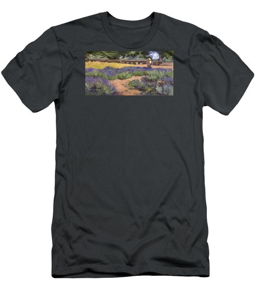 Don Read Painting Lavender Men's T-Shirt (Slim Fit) by Jane Thorpe