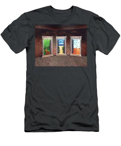 Door Number Three Men's T-Shirt (Athletic Fit)