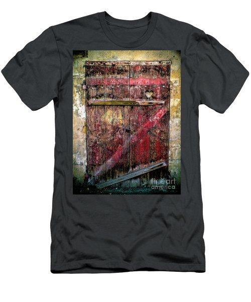 Door To My Heart Men's T-Shirt (Slim Fit) by Karen Lewis