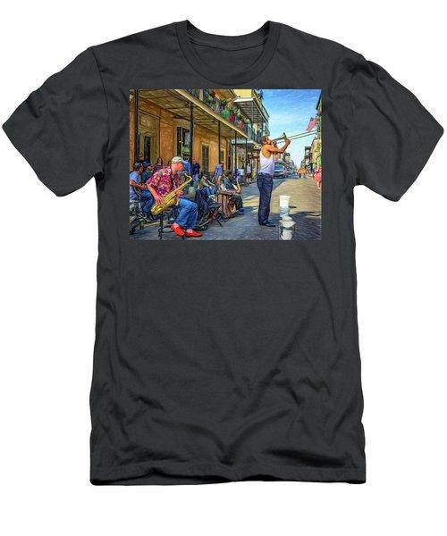 Doreen's Jazz New Orleans - Paint Men's T-Shirt (Athletic Fit)