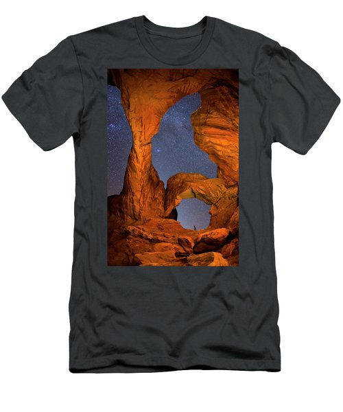 Double Arch At Night Men's T-Shirt (Athletic Fit)
