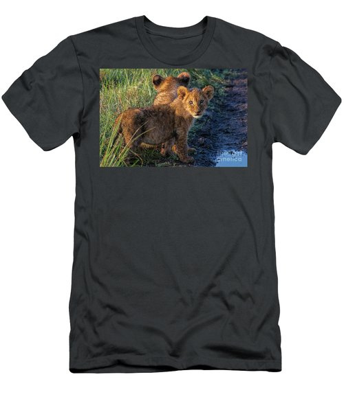 Men's T-Shirt (Slim Fit) featuring the photograph Double Trouble by Karen Lewis
