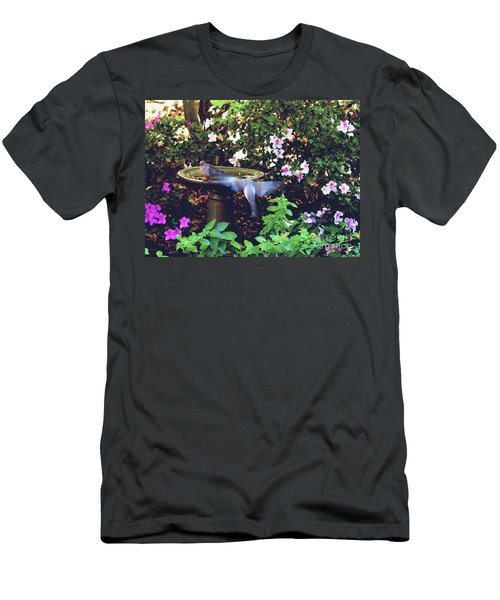 Men's T-Shirt (Slim Fit) featuring the photograph Dove In Flight by Debra Crank
