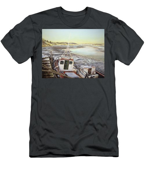 Down By The Docks Men's T-Shirt (Slim Fit) by Marty Garland