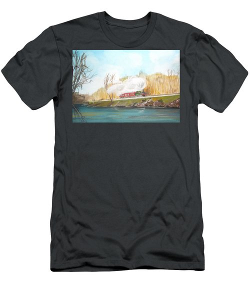Down By The River Side Men's T-Shirt (Athletic Fit)
