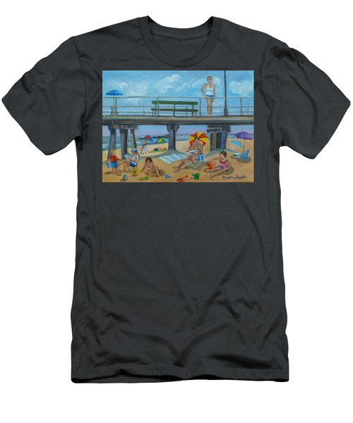 Down By The Seashore In Ocean Grove, N.j. Men's T-Shirt (Slim Fit)