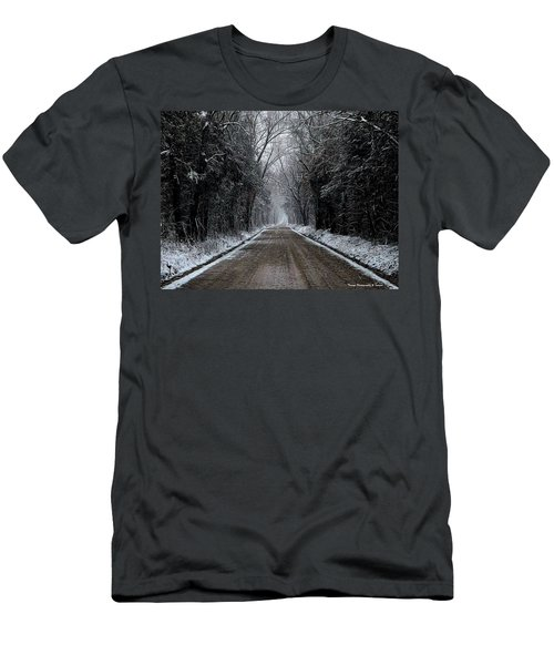 Down The Winter Road Men's T-Shirt (Athletic Fit)