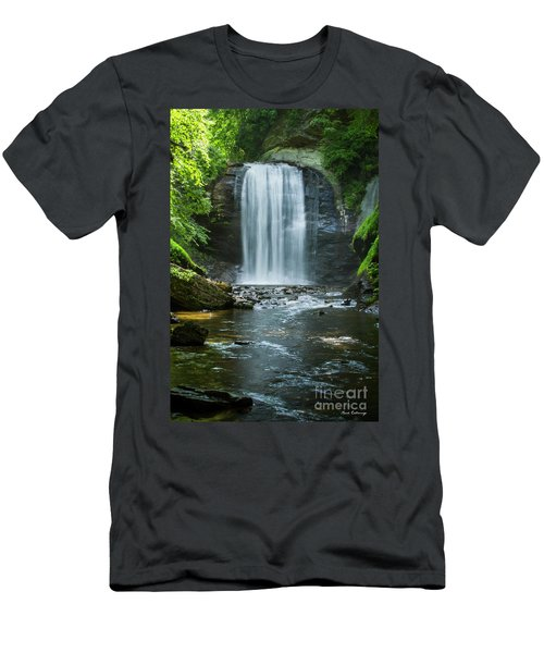 Men's T-Shirt (Slim Fit) featuring the photograph Downstream Shade Looking Glass Falls Great Smoky Mountains Art by Reid Callaway