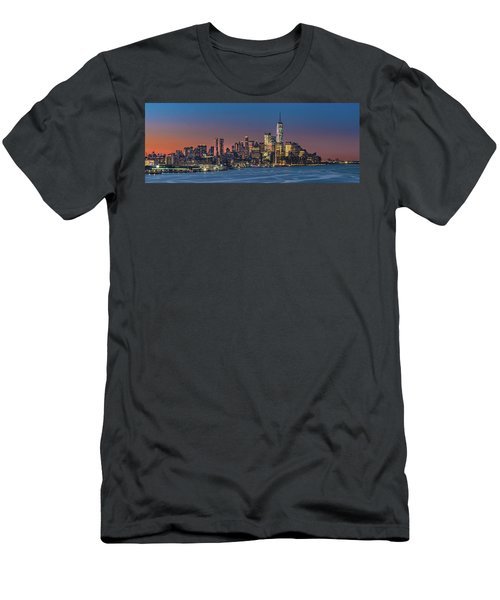 Downtown And Freedom Tower Men's T-Shirt (Athletic Fit)