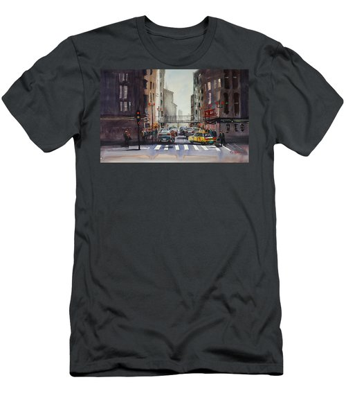 Downtown Chicago Men's T-Shirt (Slim Fit) by Ryan Radke