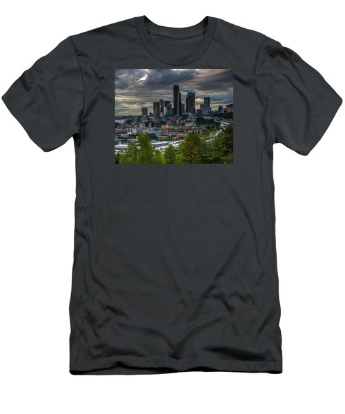 Downtown Men's T-Shirt (Slim Fit) by Jerry Cahill