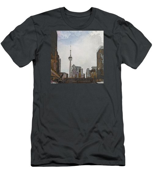 Downtown Toronto In Color Men's T-Shirt (Athletic Fit)