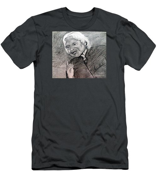 Men's T-Shirt (Slim Fit) featuring the painting Dr. Abdul Khalam by Brindha Naveen