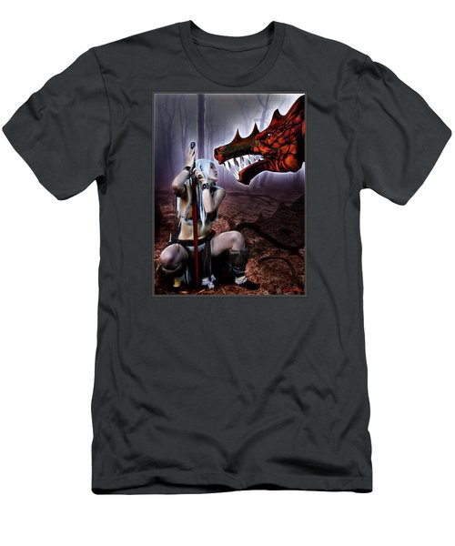 Dragon Whisperer Men's T-Shirt (Athletic Fit)