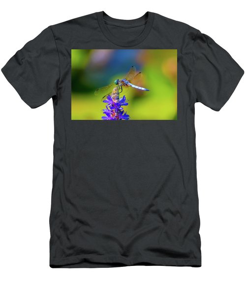 Dragonfly And Purple Flower Men's T-Shirt (Athletic Fit)