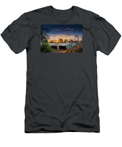 Drain_sunset Men's T-Shirt (Athletic Fit)