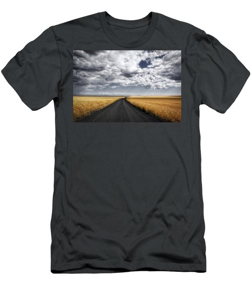 Drama On The Horse Heaven Hill Men's T-Shirt (Slim Fit) by Lynn Hopwood
