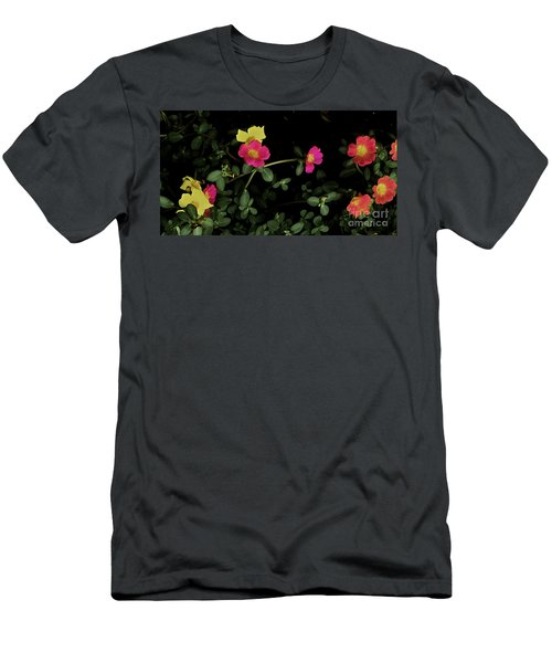 Dramatic Colorful Flowers Men's T-Shirt (Athletic Fit)