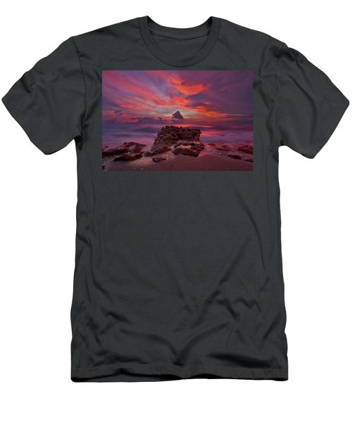 Dramatic Sunrise Over Coral Cove Beach In Jupiter Florida Men's T-Shirt (Athletic Fit)