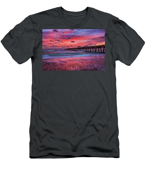 Dramatic Sunrise Over Juno Beach Pier, Florida Men's T-Shirt (Athletic Fit)