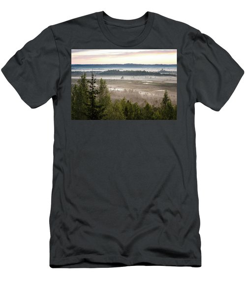 Dreamlike Landscape Men's T-Shirt (Slim Fit) by Teemu Tretjakov