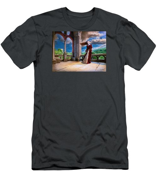 Men's T-Shirt (Slim Fit) featuring the painting Dreams Of Heaven by Dave Luebbert