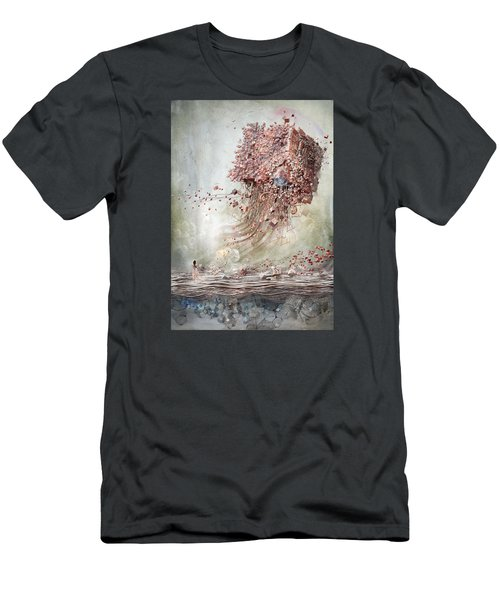 Men's T-Shirt (Slim Fit) featuring the digital art Dreamscape Flow No.1 by Te Hu