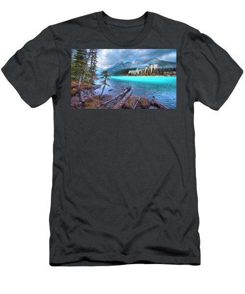 Men's T-Shirt (Slim Fit) featuring the photograph Dreamy Chateau Lake Louise by John Poon