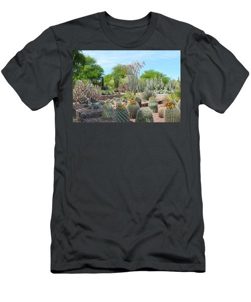 Dreamy Desert Cactus Men's T-Shirt (Slim Fit) by Aimee L Maher Photography and Art Visit ALMGallerydotcom