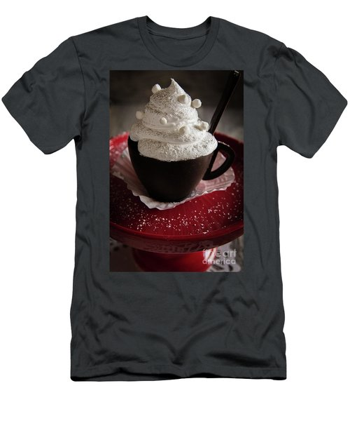 Men's T-Shirt (Slim Fit) featuring the photograph Dreamy Hot Cocoa by Deborah Klubertanz