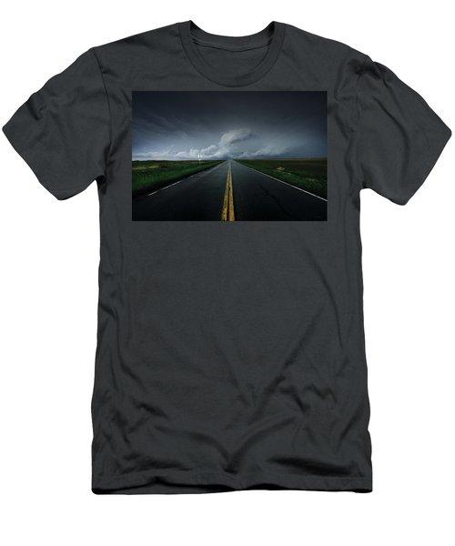 Drifting Left Of Center Men's T-Shirt (Athletic Fit)