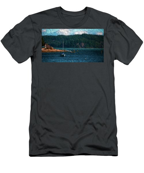 Men's T-Shirt (Slim Fit) featuring the digital art Drifting by Timothy Hack