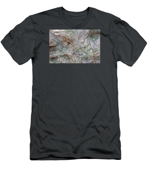 Driftwood Burl Men's T-Shirt (Slim Fit) by Chuck Flewelling