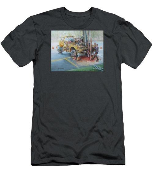 Drill,drill,drill Men's T-Shirt (Slim Fit) by Oz Freedgood