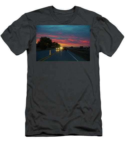 Driving Dusk Men's T-Shirt (Athletic Fit)