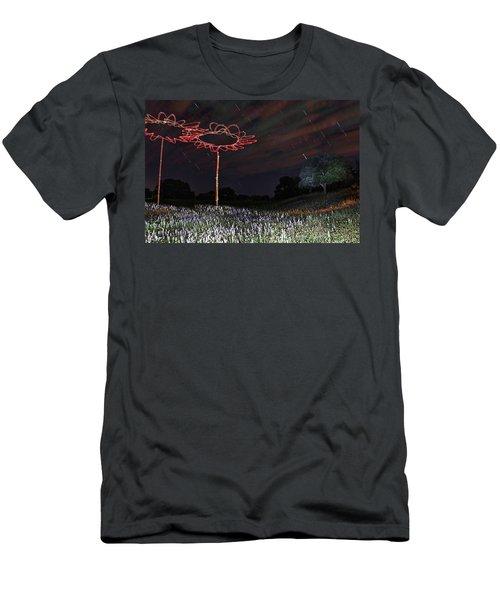 Drone Flowers Men's T-Shirt (Athletic Fit)