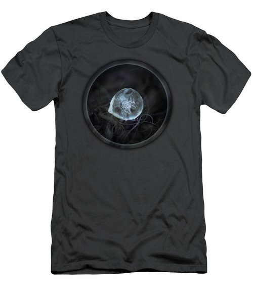 Men's T-Shirt (Athletic Fit) featuring the photograph Drop Of Ice Rain by Alexey Kljatov