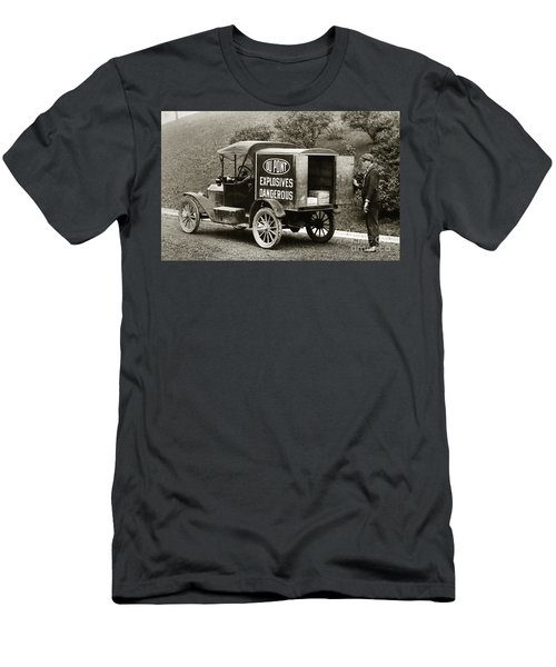 Du Pont Co. Explosives Truck Pennsylvania Coal Fields 1916 Men's T-Shirt (Athletic Fit)