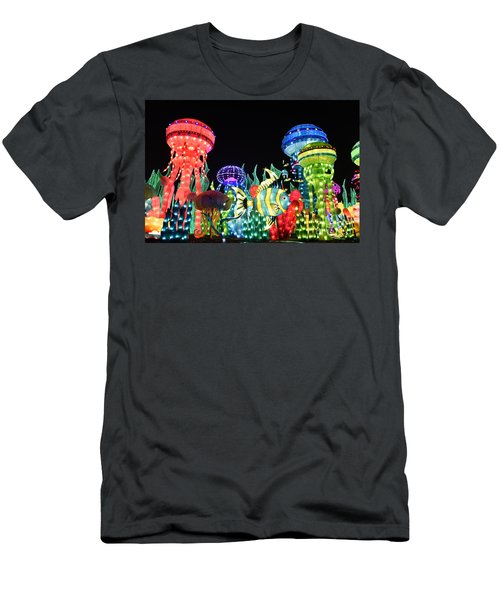 Men's T-Shirt (Slim Fit) featuring the photograph Dubai - Garden Glow by Hanza Turgul