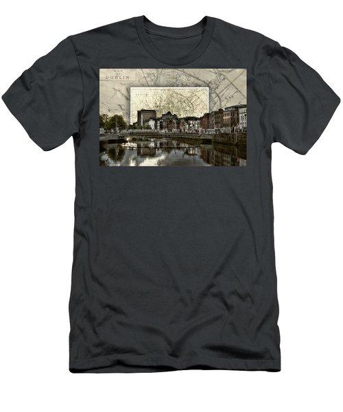Dublin Skyline Mapped Men's T-Shirt (Athletic Fit)