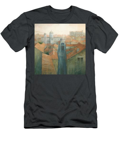 Dubrovnik Rooftops Men's T-Shirt (Slim Fit) by Steve Mitchell