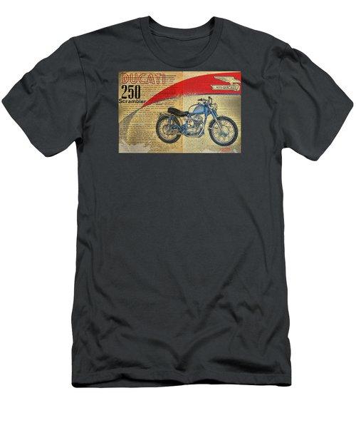 Ducati Scrambler 250 Men's T-Shirt (Athletic Fit)