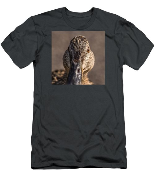 Duck Headshot Men's T-Shirt (Athletic Fit)