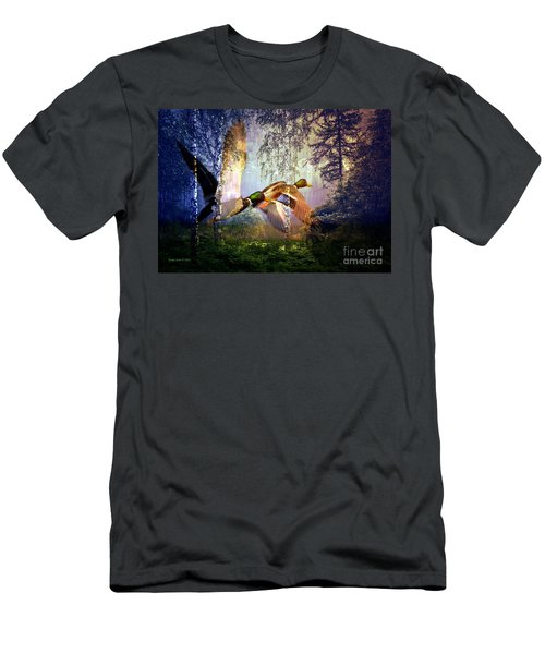 Ducks Flying To The Lake Men's T-Shirt (Athletic Fit)