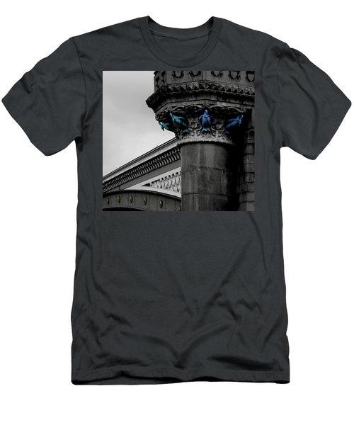 Ducks On The Bridge Men's T-Shirt (Athletic Fit)