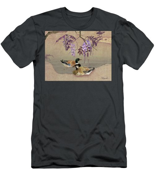 Ducks Under Wisteria Tree Men's T-Shirt (Athletic Fit)