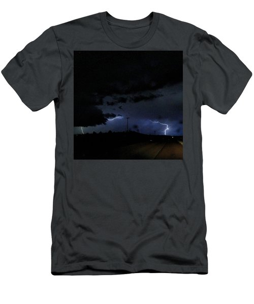 Dueling Lightning Bolts Men's T-Shirt (Athletic Fit)