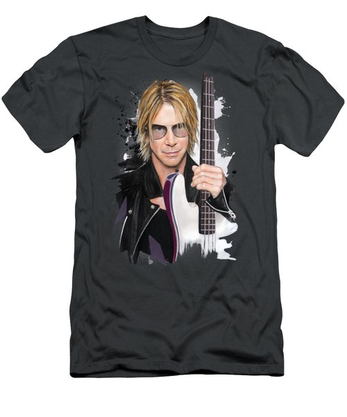 Duff Mckagan Men's T-Shirt (Slim Fit) by Melanie D
