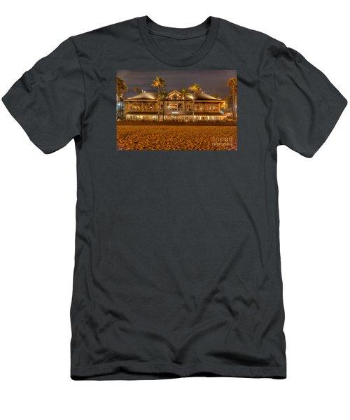 Men's T-Shirt (Slim Fit) featuring the photograph Duke's Restaurant Huntington Beach - Back by Jim Carrell